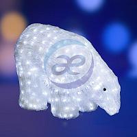 """Акриловая светодиодная фигура """"Белый медведь"""" 40см, 752 светодиода, IP 44, понижающий трансформатор в"""
