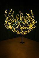 """Светодиодное дерево """"Сакура"""" высота 1,5м, диаметр кроны 1,8м, желтые светодиоды, IP 54, понижающий"""