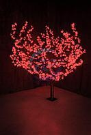 """Светодиодное дерево """"Сакура"""", высота 1,5м, диаметр кроны 1,8м, красные светодиоды, IP 54, понижающий"""