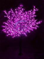 """Светодиодное дерево """"Сакура"""", высота 3,6м, диаметр кроны 3,0м, фиалетовые светодиоды, IP 54, понижающий"""
