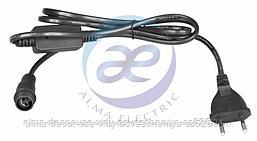 Комплект покдлючения для гирлянд с постоянным свечением 230В / 4А, цвет провода: черный, IP65