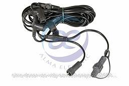 Комплект подключения LED сосулек 50см / 80см. Длина 6,5м, 5 патронов, шаг 1,5м