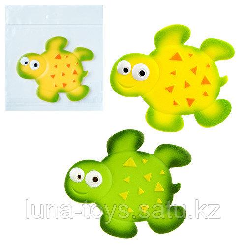 Мини-коврик для ванной комнаты Черепашка (на присосах) цвета микс:желтый,зеленый