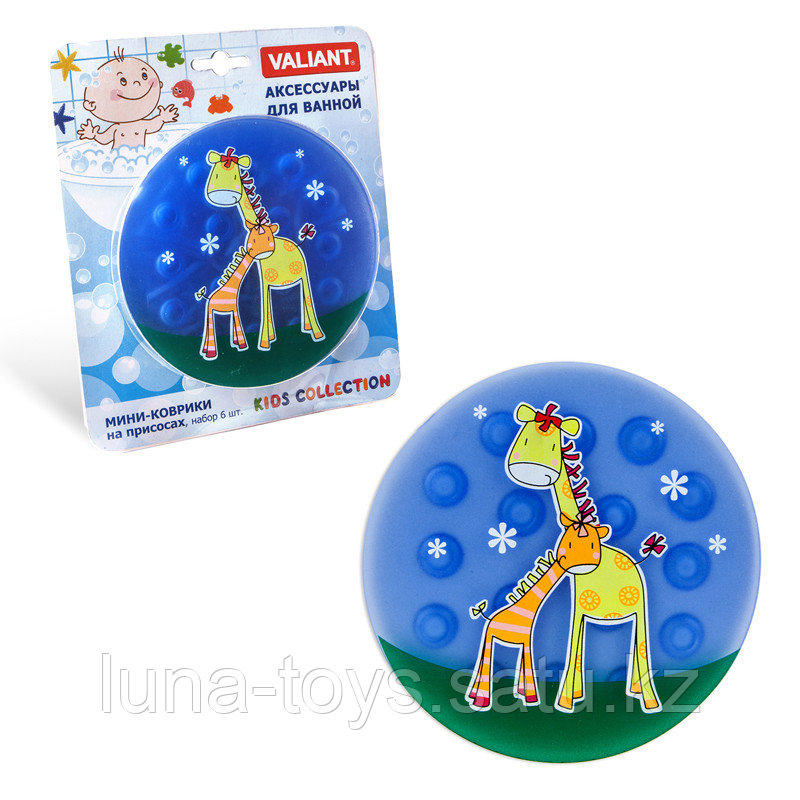 Мини-коврик Жирафы на присосах 12,5*12,5 см