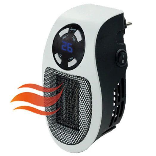 Обогреватель портативный с LED-дисплеем  и таймером  Pluggable mini heater fan(500ВТ)