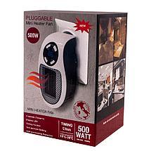 Обогреватель портативный с LED-дисплеем  и таймером  Pluggable mini heater fan(500ВТ), фото 3