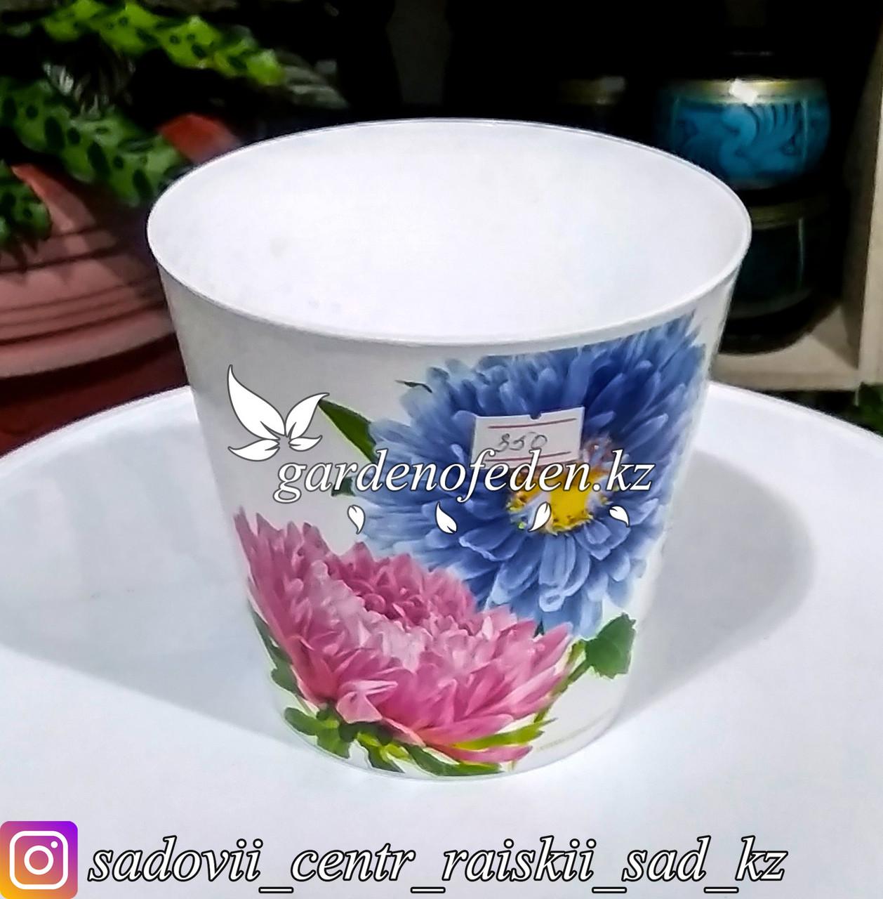 """Пластиковый горшок орхидей """"Соломон"""". Цвет: Белый. Объем: 0.8л"""