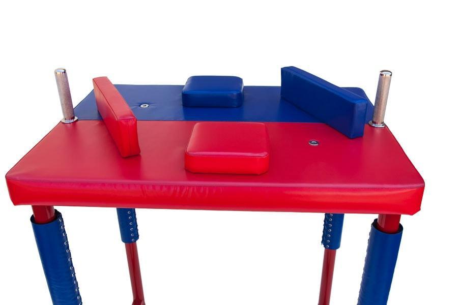 Стол для Армрестлинга-разборный (красно-синий)