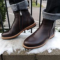 Зимние кожаные сапоги, фото 1