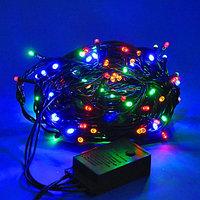 """Гирлянда светодиодная """"Нить"""" - 10 метров, 80 лампочек, разноцветная, мерцающая"""