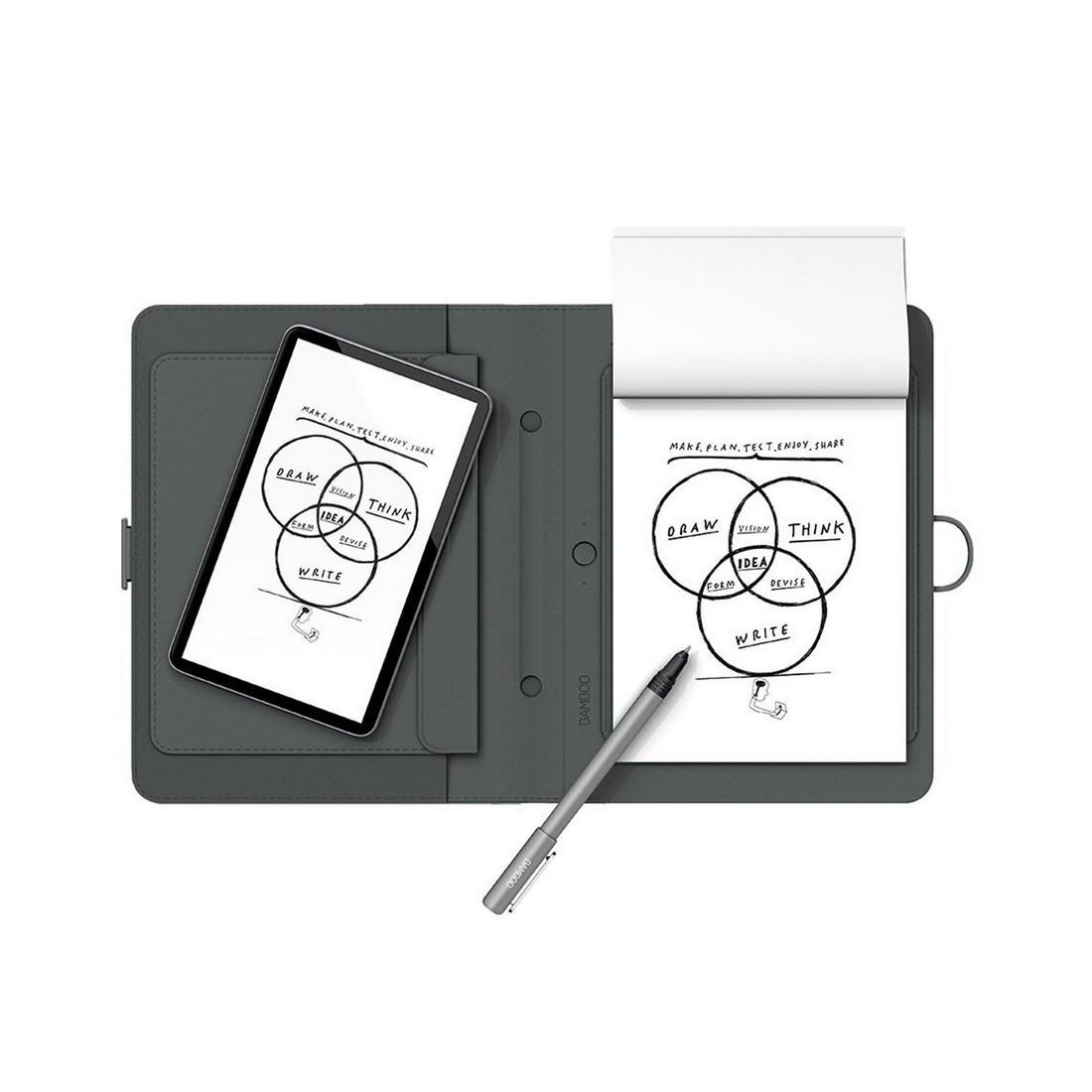 Графический планшет (Автономное перо + блокнот) Wacom Bamboo Spark (CDS-600P) Серый