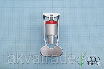 Кран с наружней резьбой, нажим чашкой, серебро