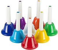 Набор цветных ручных колокольчиков