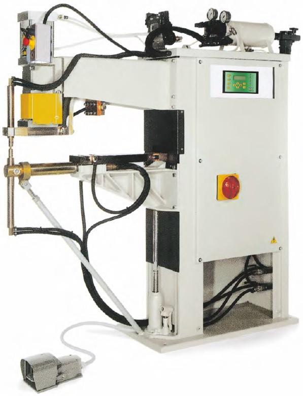 Машина для контактной сварки TECNA 8202/380 с линейным ходом плеча