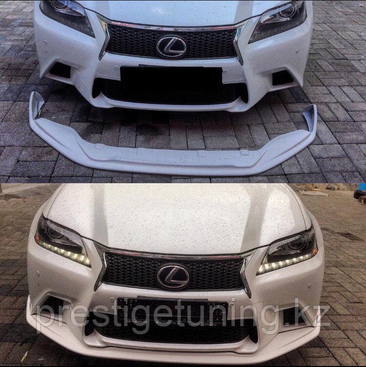 Сплиттер переднего бампера на Lexus GS(L10) 2012-