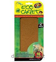 Впитывающая подстилка для террариума Eco Carpet впитываемость 40л, 25х50см 2шт Zoo Med арт.CC-10