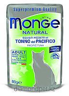 Monge Cat Natural паучи для кошек желтоперый тунец в желе 80гр арт.6873