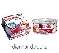 Консервы для кошек тунец с яблоком Monge Cat Fruits 80гр арт.3284