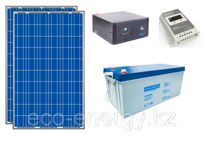 Автономная солнечная станция 2.4кВт*ч в сутки (0.5 кВт в час) 12/24 В