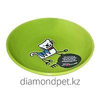 Миска Глупый котенок керамика 100мл зеленая Pet Rageous арт.PR11036