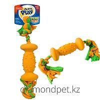 Игрушка Dura Play Dumbell Large Dog Toy Гантель для собак 45см Hartz арт.HZ5387