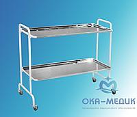 Столик мед .для хирургического инструмента СМх-6«Ока-Медик» (2 полки из нержавейки)