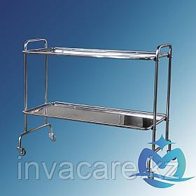 Столик мед .для хирургического инструмента СМх-6«Ока-Медик» из нерж. стали (2 полки из нержавейки)