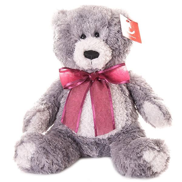AURORA Игрушка мягкая Медведь серый 20 см