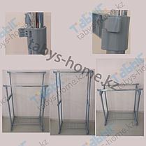 Двойная напольная гардеробная вешалка Табыс EP 8608(серый цвет), фото 3