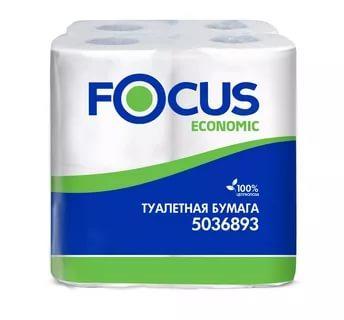 Туалетная бумага Фокус - Focus Economic 8рулона 2слоя/пачка