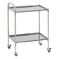 Столик медицинский инструментальный СМи-5 - нерж/нерж (колеса мебельные)