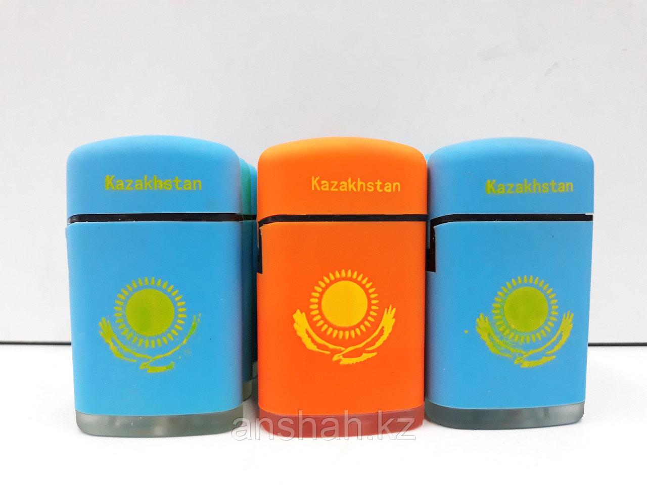 Зажигалка Казахстан Турбо бол. С крышкой№518 20шт