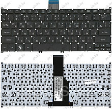 Клавиатура для ноутбука Acer Aspire S3/ S5/ One 756/ TravelMate B1/ RU, черная