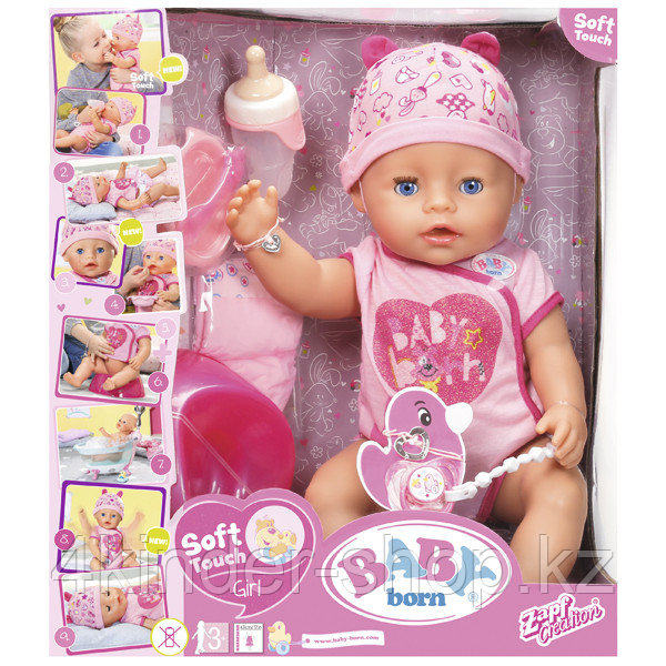 Zapf Creation Baby born 825-938 Бэби Борн Кукла Интерактивная, 43 см - фото 1