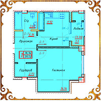 Однокомнатная квартира 39,52 кв.м. в жк Оазис