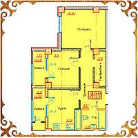 Двухкомнатная квартира 52.91 кв.м. в жк Оазис, фото 1