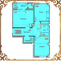 Двухкомнатная квартира 58,14 кв.м в жк Оазис, фото 1
