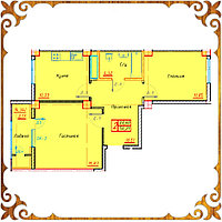 Двухкомнатная квартира 56.21 кв.м., фото 1
