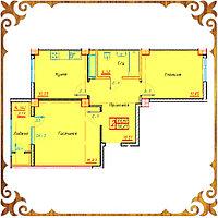 Двухкомнатная квартира 56.21 кв.м.