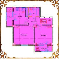 Двухкомнатная квартира 53.77 кв.м в жк Оазис, фото 1