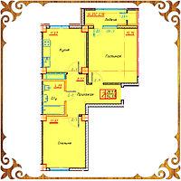 Двухкомнатная квартира 54.93 кв.м в жк Оазис