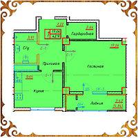 Однокомнатная квартира 42.90 кв.м