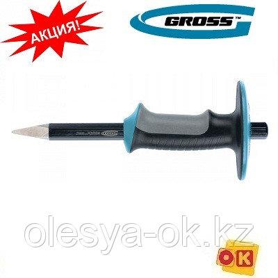 Зубило-керн, 254 мм, трехкомпонентная эргономичная рукоятка, защитный протектор, антикоррозионное покрытие. GR