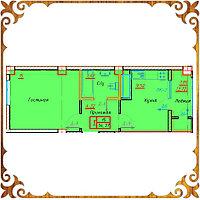 Однокомнатная квартира 34.37 кв.м.