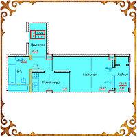 Однокомнатная квартира 31.6 кв.м в жк Оазис