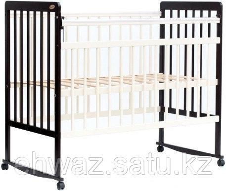 Кровать детская Bambini Евро стиль M 01.10.03 Темный орех+Слоновая кость