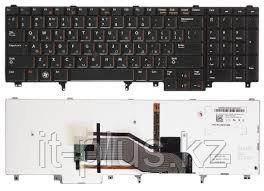 Клавиатура для ноутбука Dell Latitude E6520/ E6530/ E6540/ RU, подсветка, черная