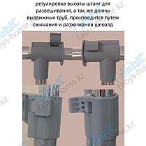 Одинарная раздвижная гардеробная вешалка Табыс GC 0040 с полкой для головных уборов, фото 2