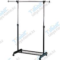 Вешалка для одежды гардеробная EP8607R черный цвет одинарная раздвижная, фото 3