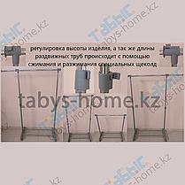 Одинарная раздвижная гардеробная вешалка Табыс EP 8607R (черный цвет), фото 3